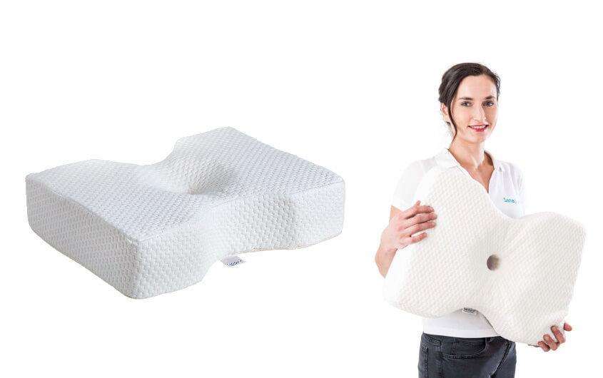 NEU: Das Sanapur Original Kissen 3.0 Die erste Hilfe, die schmerzhafte Nackenverspannungen löst – und nicht nur die Symptome bekämpft.